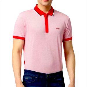 HUGO BOSS Polo T-shirt with Contrast Hem L